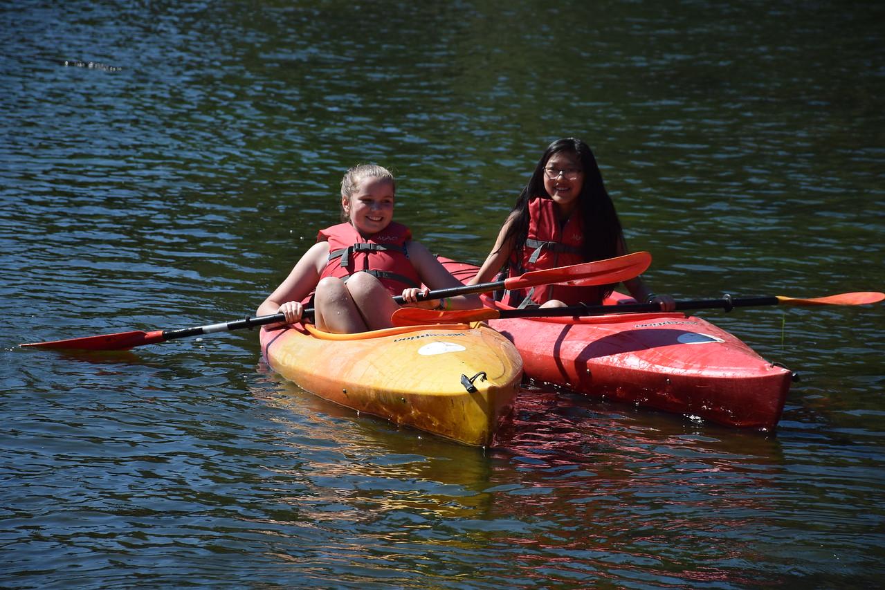 overnight camp lake kayaking