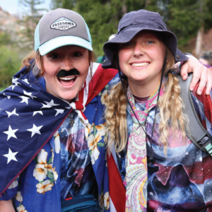 Eagle Lake Camp Counselors dressed up to celebrate the fourth of July