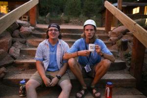 Camp leadership sitting down